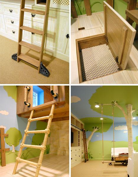 интерьер большой детская комната