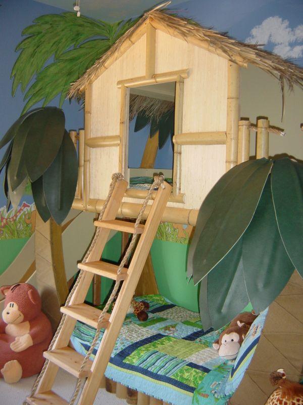 бамбук в детскаой комнате