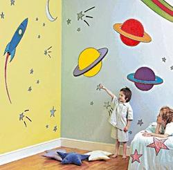 детская комната оформление стен