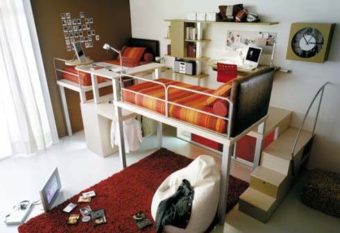 двуярсная кровать - детская комната