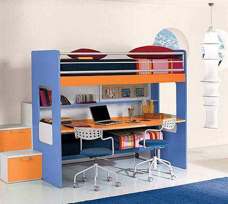 кровать чердак - детская комната