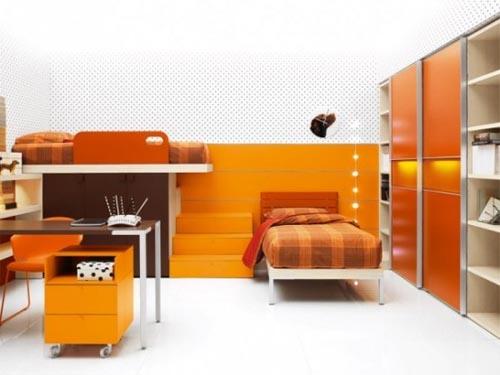 араньжевое настроение детской комнаты