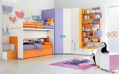 кровать двуярсная детской комнаты