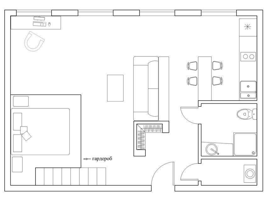 План, дизайн для студии. Мастеровой