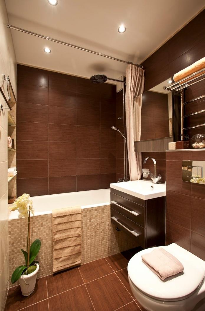 Пример дизайна маленькой ванной Мастеровой