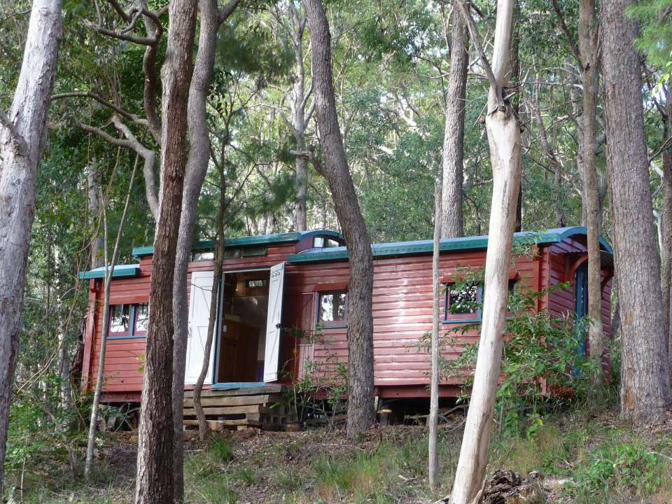 уютный домик из вагончик