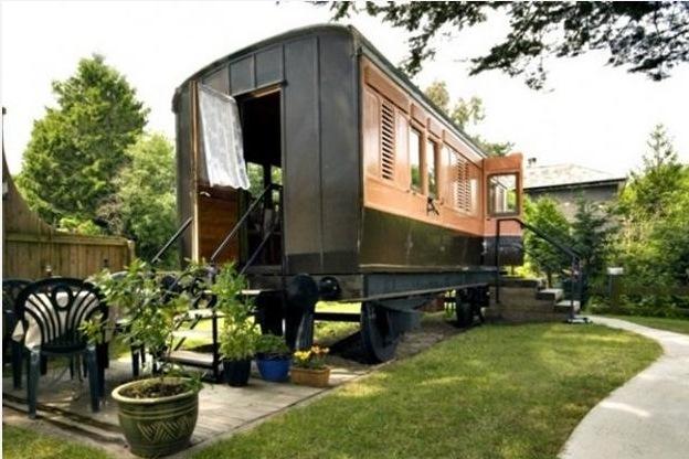 дом из железнодорожного вагона