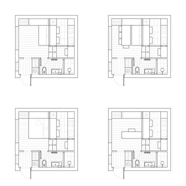 дизайн маленькой квартиры - план
