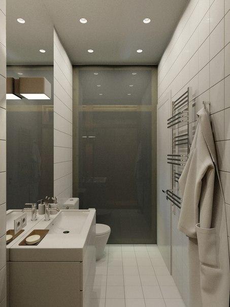 дизайн маленькой квартиры - ванная