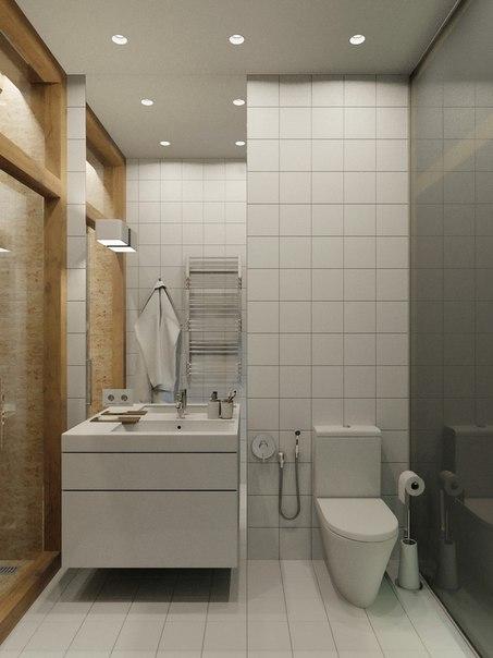 дизайн проект маленькой квартиры - сан узел