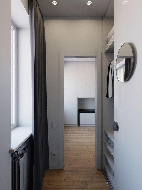коридор маленькой квартиры