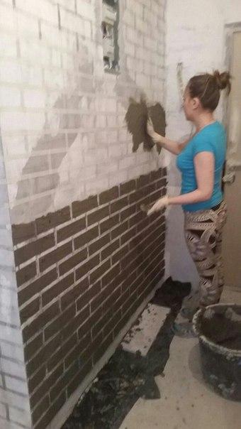 Кирпичная стена своими руками с минимум затрат.