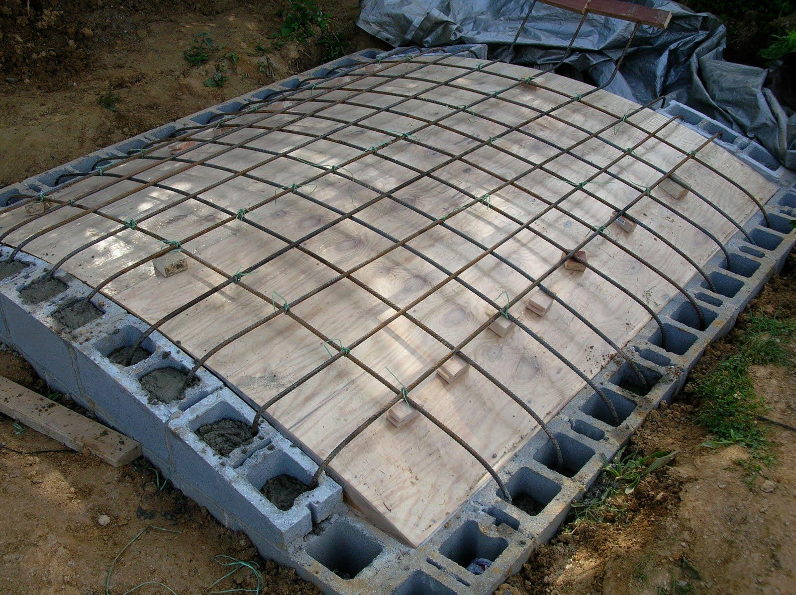 Армируем крышу, для дальнейшей заливки