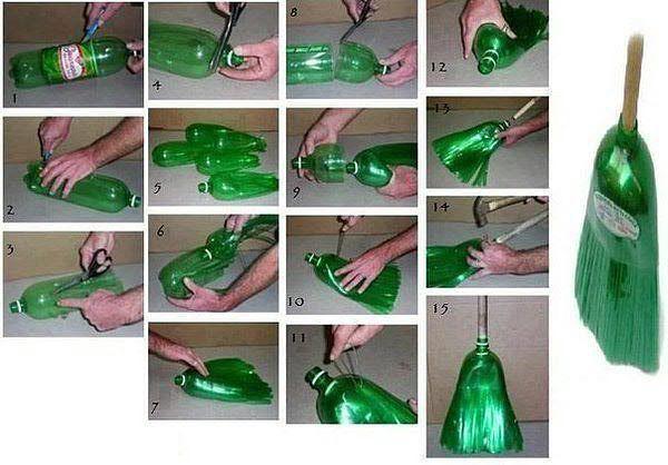 лайфхак - метла из пластиковых бутылок