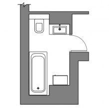 дизайн для ванной комнаты план