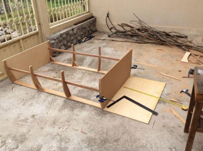 самодельная лодка кровать