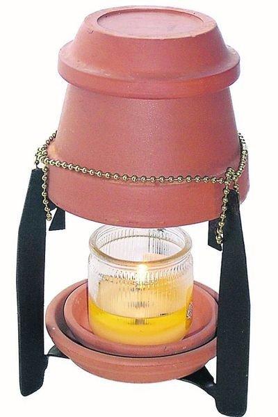 Обогреватель из свечи