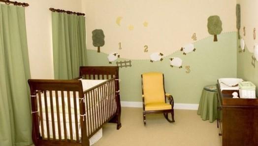 Забавные овечки для декорирования стены в детской комнате — трогательный интерьер своими руками