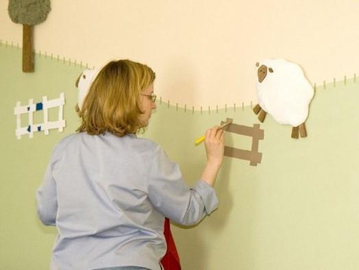 своими руками барашки на стену