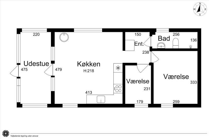 загородный, дачный дом - план