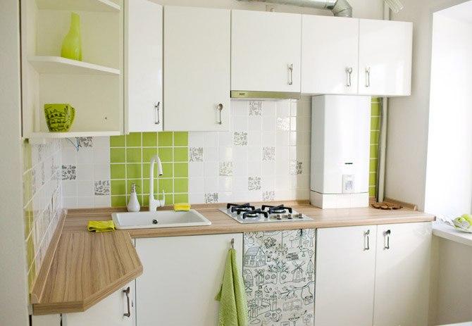 Проект маленькой шестиметровой кухни