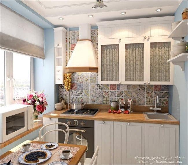 Маленькое пространство на кухни дизайн