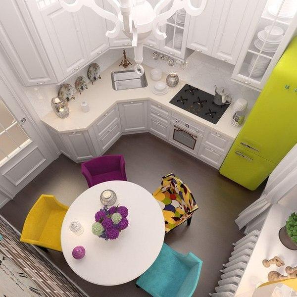 Пару идей для 6 метровой кухни.
