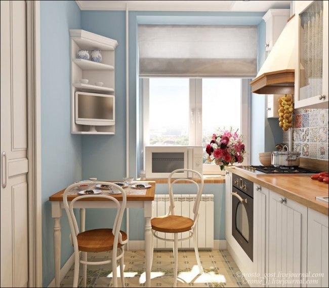 дизайн проект для маленькой кухни