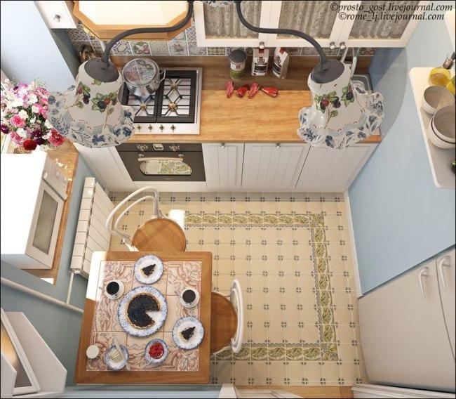 Дизайн для маленькой шести метровой кухни