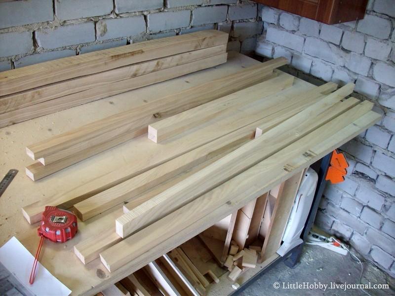 Красивый деревянный стол своими руками