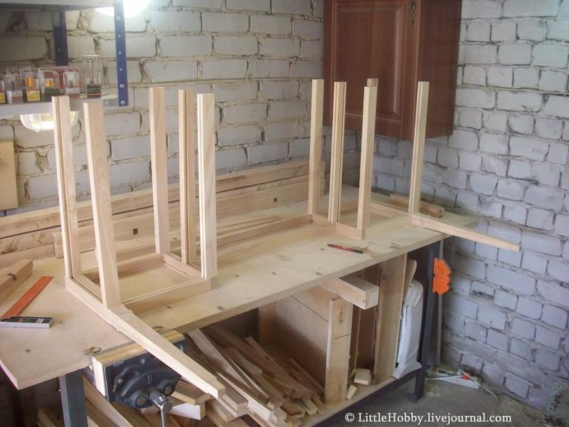 Стол из дерева сбока своими руками