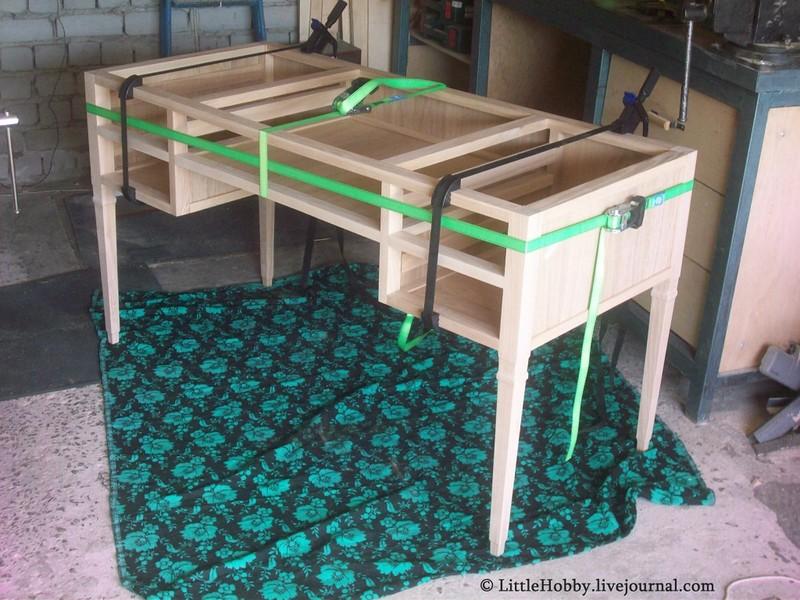 самодельный стол - склейка