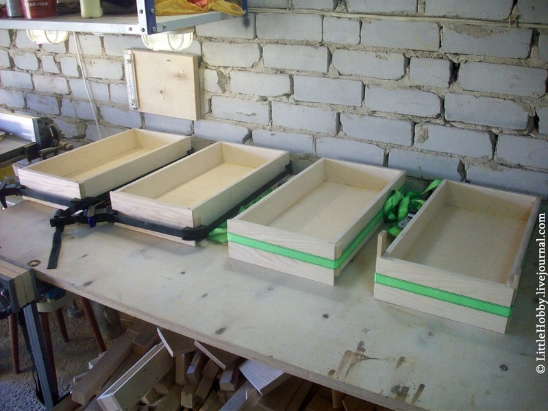 ящики для самодельного стола