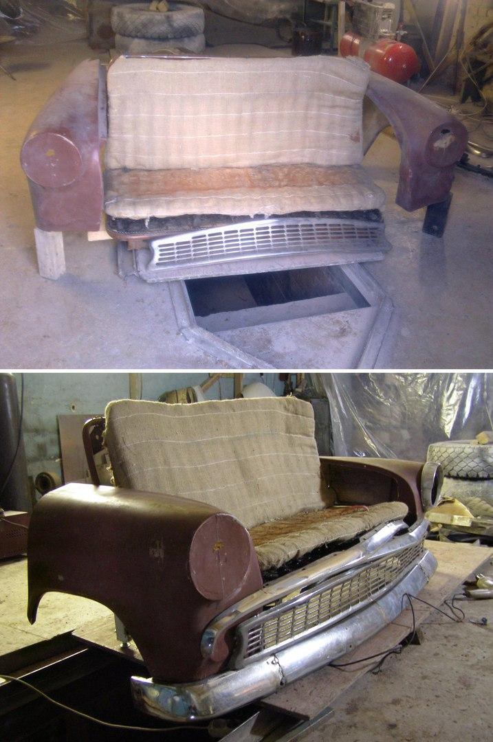 Диванчик из старого авто