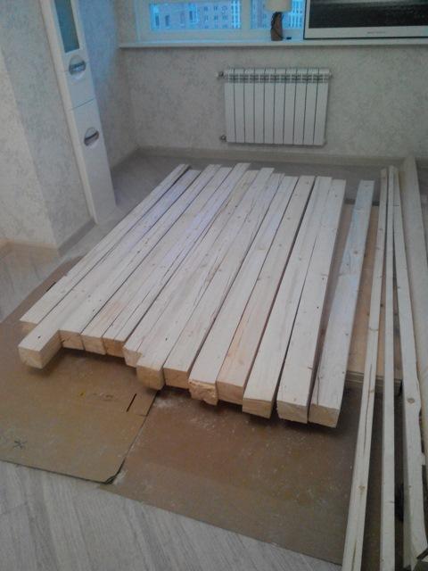 Подготовка материала для кровати