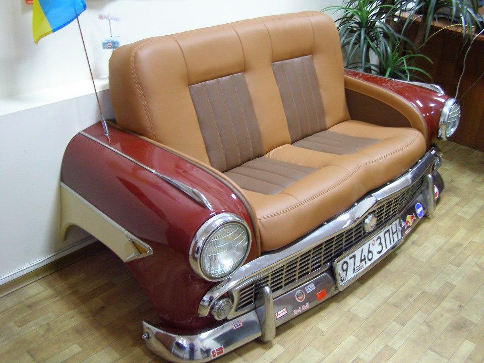Мастер класс диванчик из старого авто