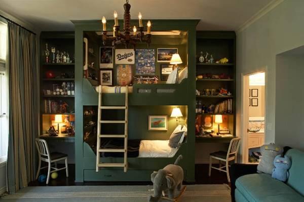 детская комната и двухъярусная кровать